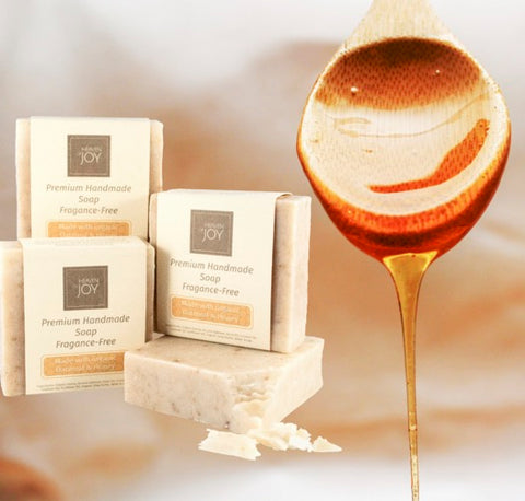 Hney and oatmeal soap