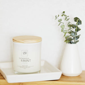 100% Natural Eucalyptus & Mint Candle - Heaven Of Joy