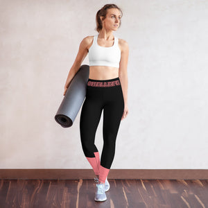 Chellefe Black and Pink Yoga Leggings