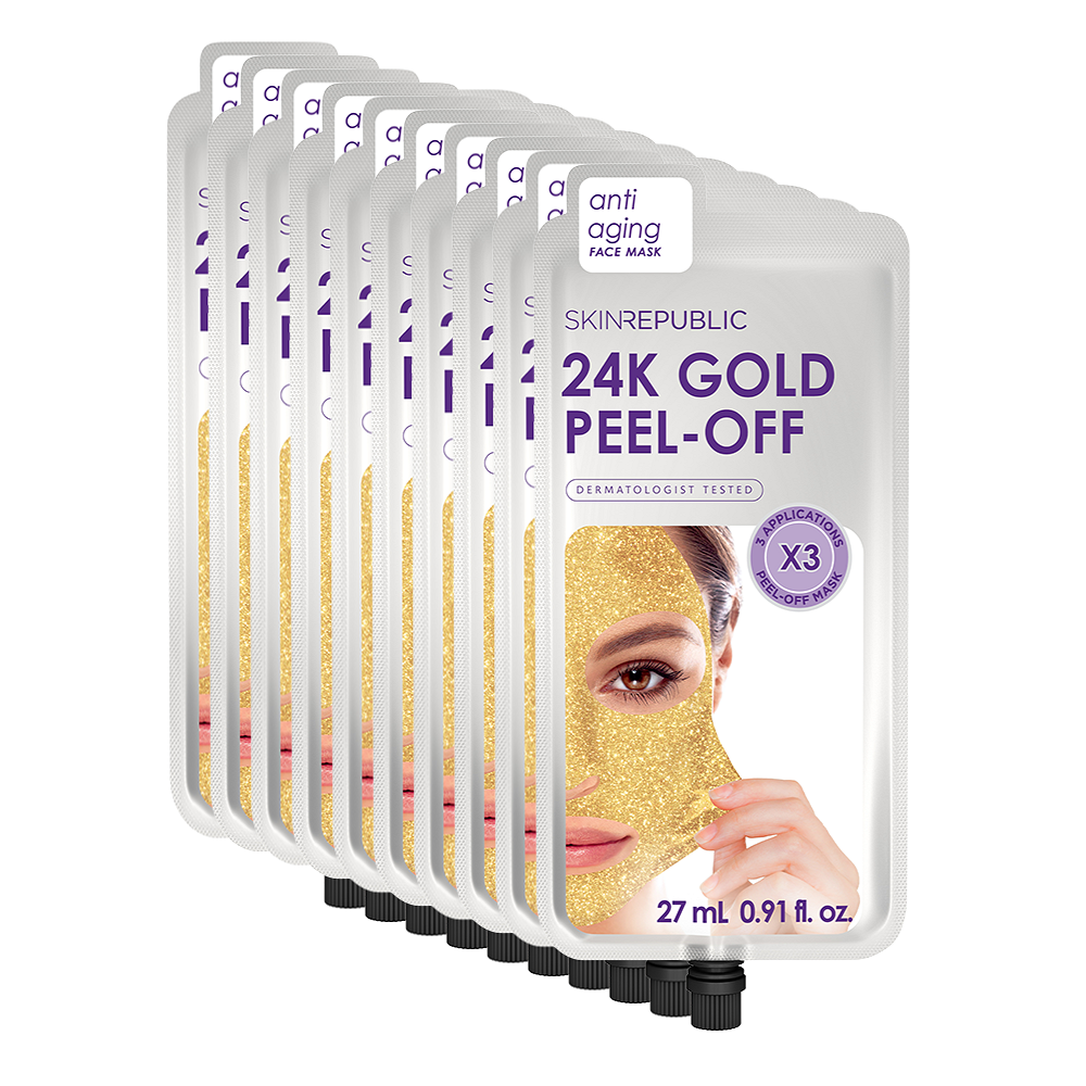 Gold Peel-Off Face Mask (3 Applications) - 10 Pack