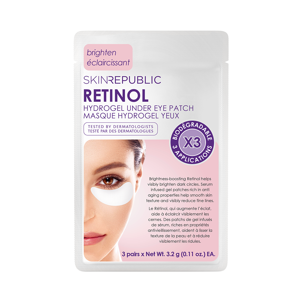 Retinol Hydrogel Under Eye Patch (3 Pairs & Biodegradable)