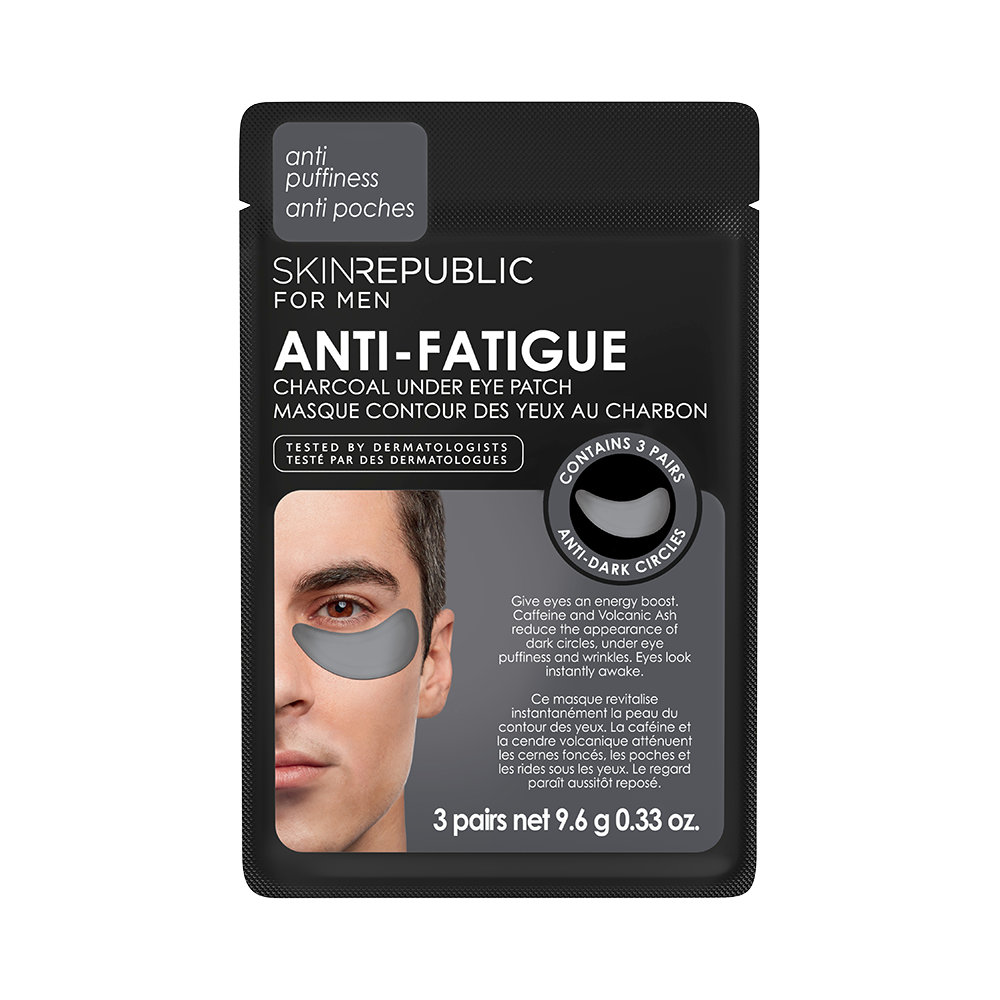 Anti-Fatigue Charcoal Under Eye Patch for Men (3 Pairs)