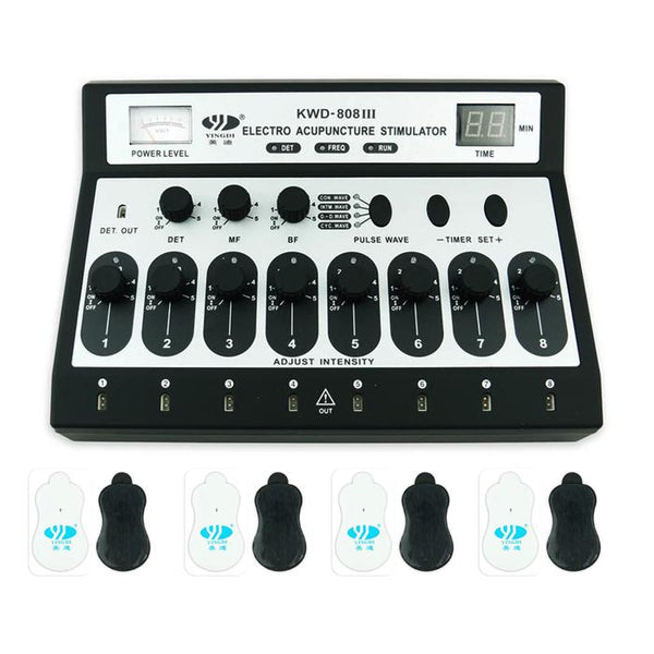 The 8 Channel Acu Machine - Best Electro Acupuncture Stimulator & TENS Therapy Device - Max Nature