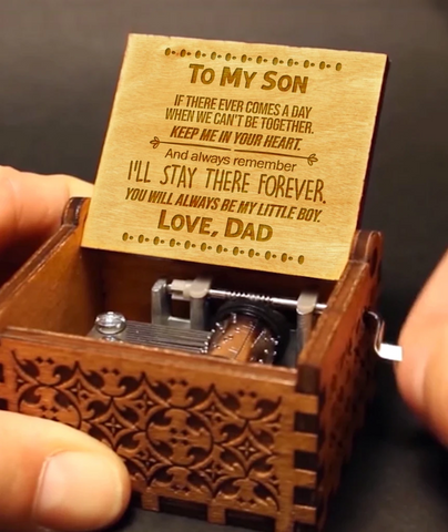 To My Son - Love Dad Music Box