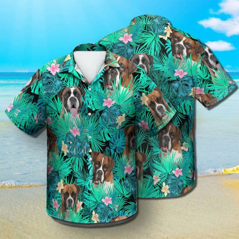 Boxer - Summer Leaves - Hawaiian Shirt