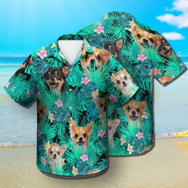 Chihuahua - Summer Leaves - Hawaiian Shirt