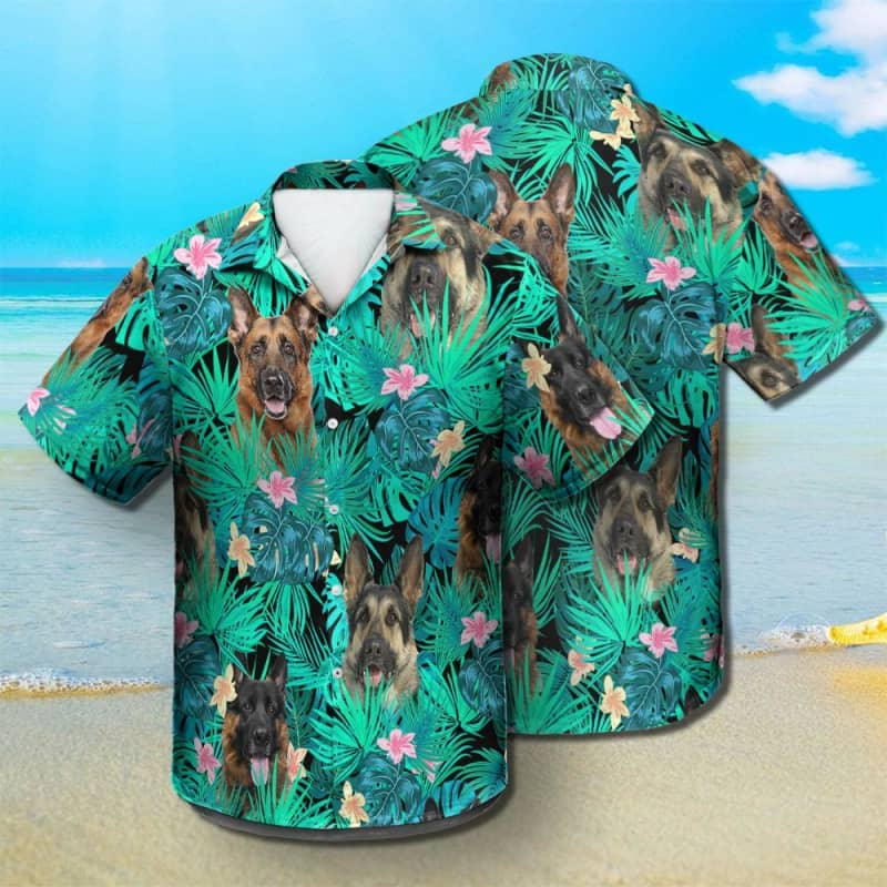 German Shepherd - Summer Leaves - Hawaiian Shirt