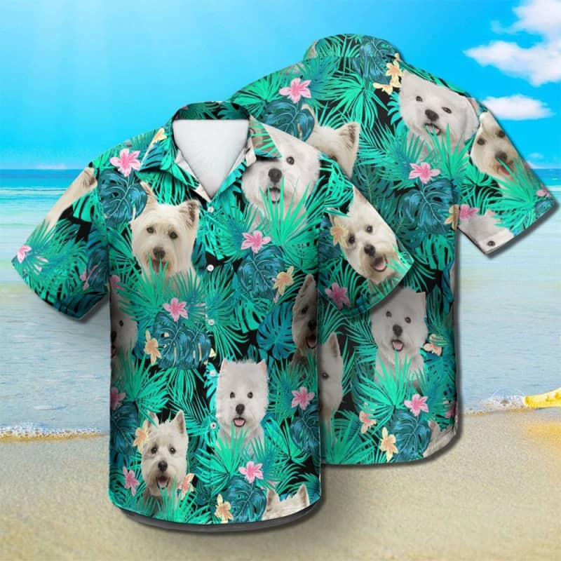 WEST HIGHLAND WHITE TERRIER - Summer Leaves - Hawaiian Shirt