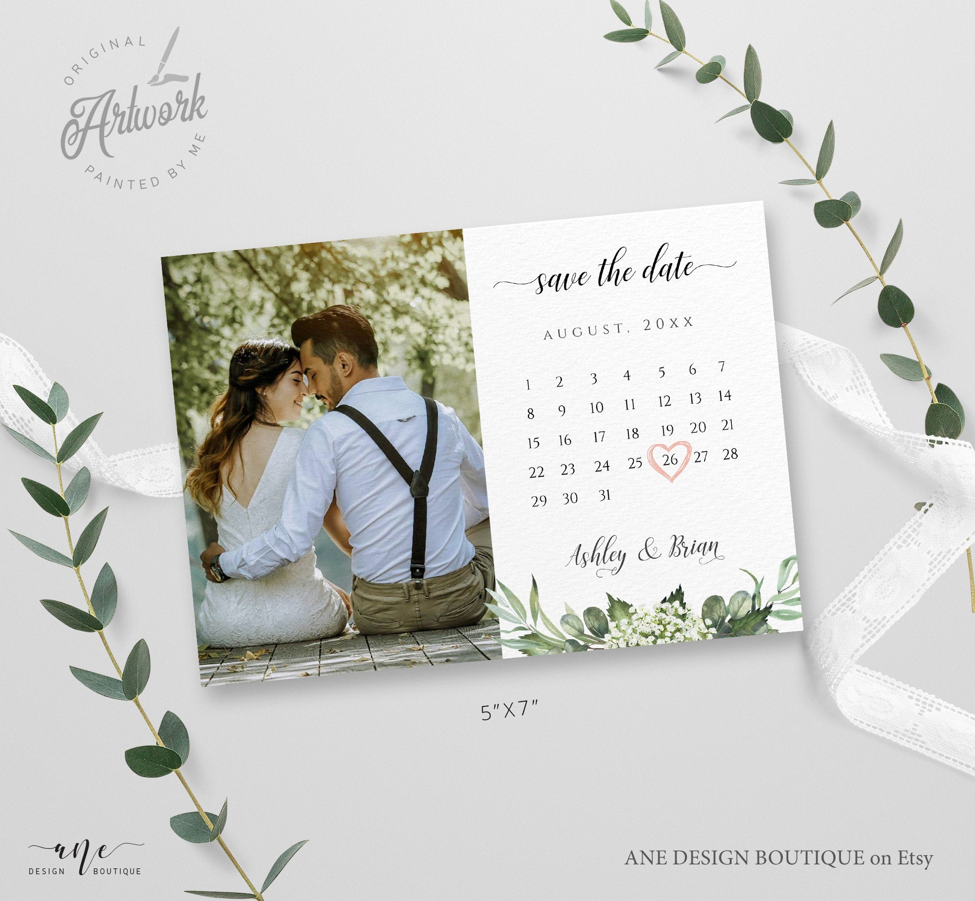 Printable Save the Date Save the Date Vintage Alisa Editable Template Traditional DIY Invitation Floral