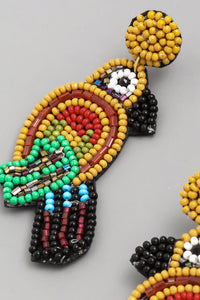 Parrot Beaded Earrings