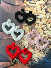 Load image into Gallery viewer, Beaded Heart Earrings
