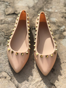 Studded Jelly Flats