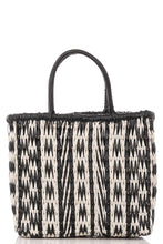 Load image into Gallery viewer, Black & White Weave Tote