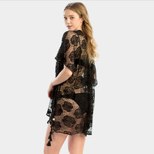 Load image into Gallery viewer, Lace Black Cover Up