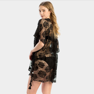 Lace Black Cover Up