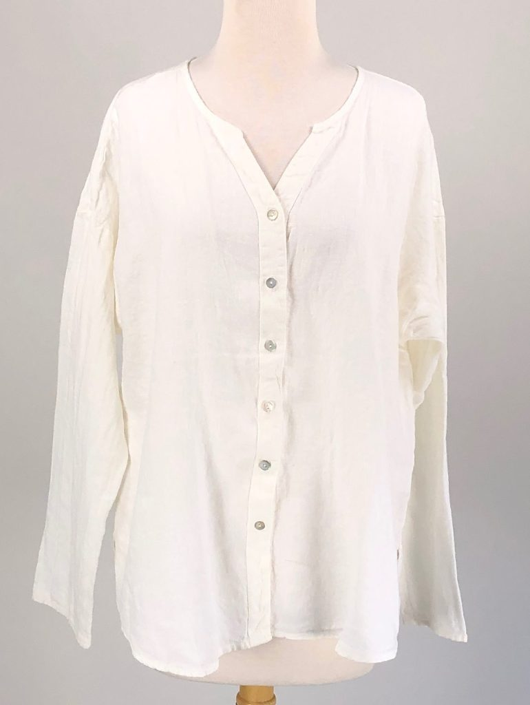 Cut Loose Solid Linen Boxy Shirt