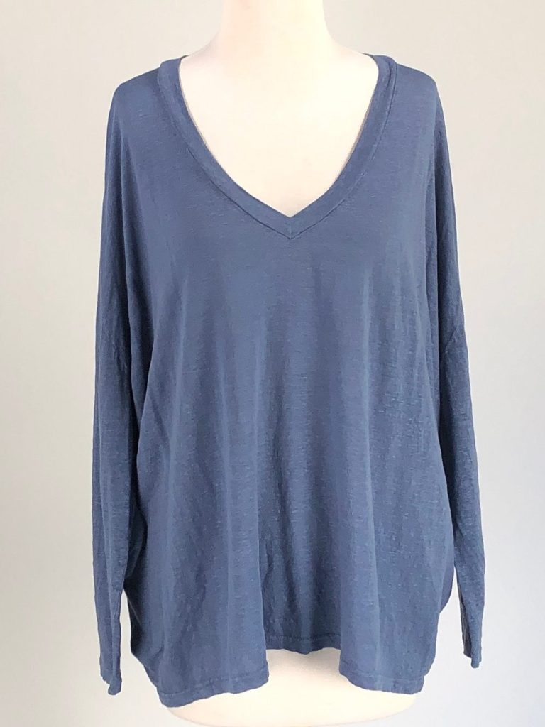 Cut Loose Light Weight Linen Sweater V-Neck Boxy Pullover