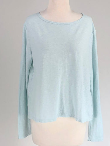 Cut Loose Linen Cotton Jersey Long Sleeve Top