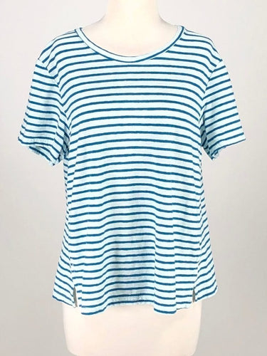 Cut Loose Gulfstream Stripe Short Sleeve Crop Top