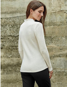 Blue Canoe Rib Funnel Neck Sweater