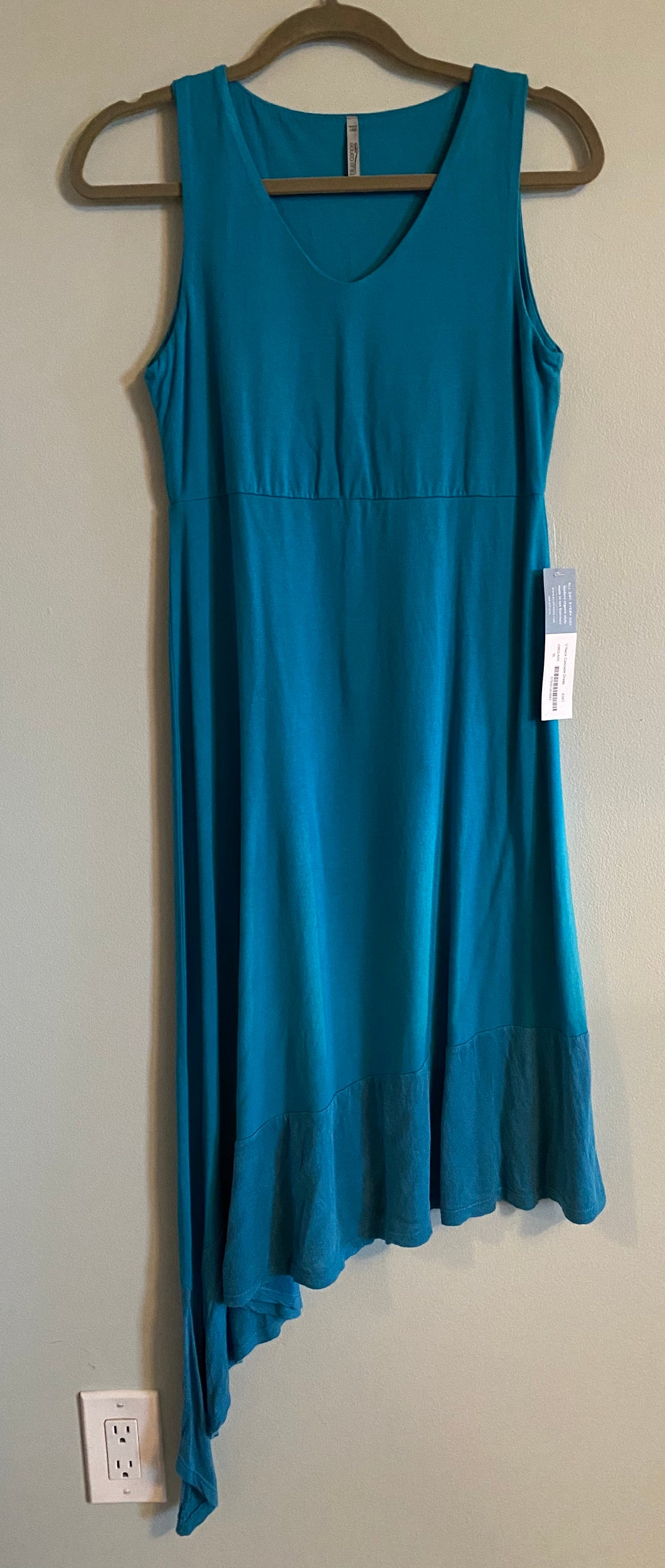 Blue Canoe V-Neck Cascade Dress (S) - On Sale!