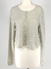 Load image into Gallery viewer, Cut Loose Texture Sweater Knit Cropped Cardigan