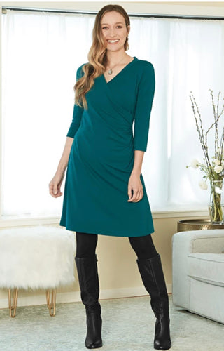 Blue Canoe Wrap Dress