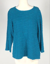 Load image into Gallery viewer, Cut Loose Texture Sweater Knit 3/4 Sleeve Boatneck Top
