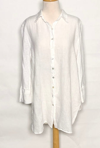 Cut Loose Linen Combo Easy Shirt