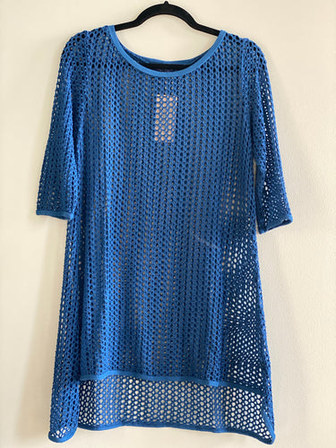 Cut Loose Fishnet 3/4 Sleeve Long Top (M)