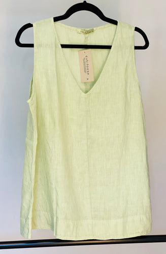 Cut Loose Hanky Linen V-Neck Tank (M) - On Sale!