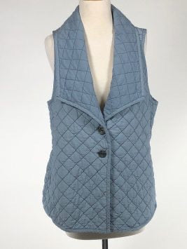 Cut Loose Quilted Parachute Lapel Collar Vest