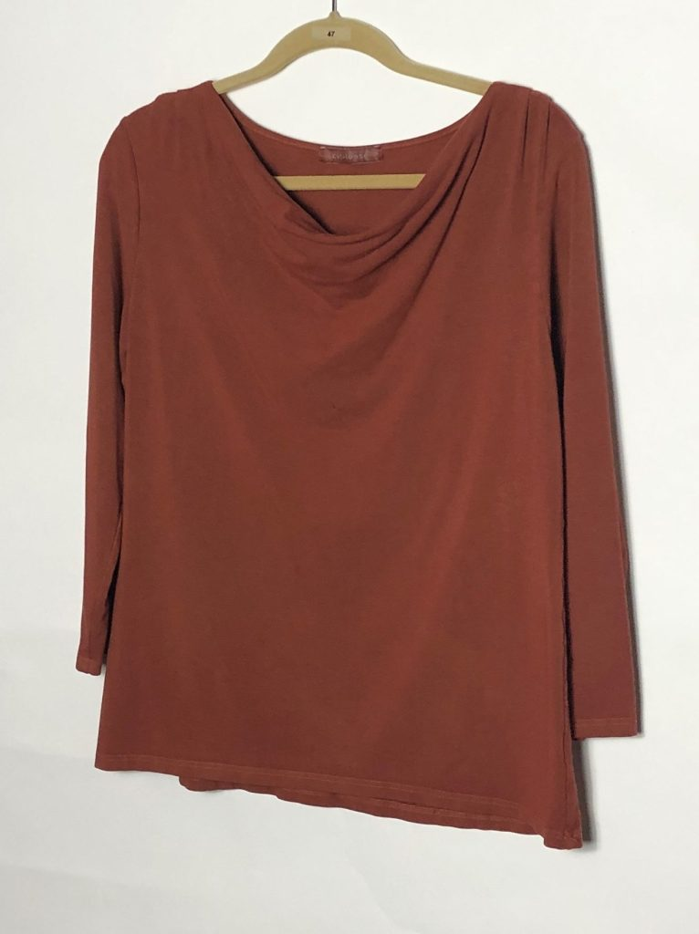 Cut Loose 3/4 Sleeve Drape Neck Top