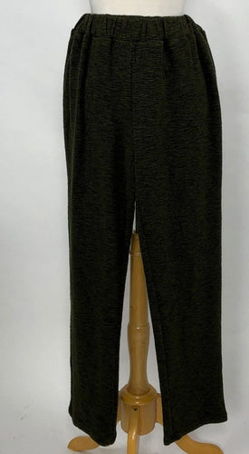 Cut Loose Crimped Fabric Slim Ankle Pant