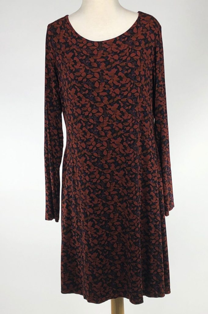 Cut Loose Fall Leaf Jersey Long Sleeve Layering Tunic