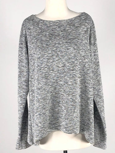 Cut Loose Crimped Fabric Wide Facing Pullover