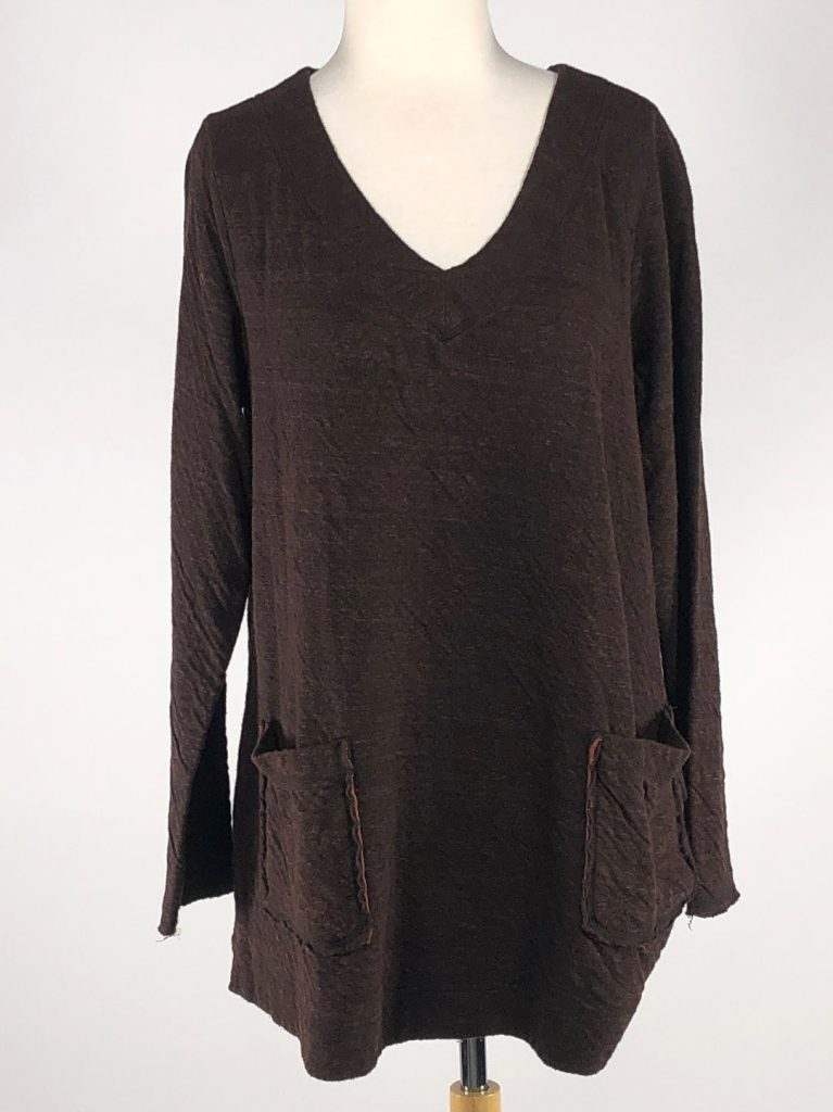 Cut Loose Char Double Cloth V-Neck Sweater