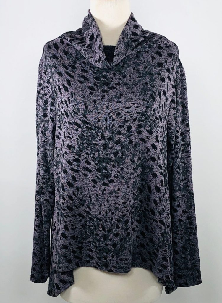Cut Loose Graphic Animal Print Hi-Low Funnel Neck