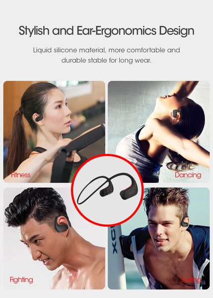 DACOM Bluetooth Headphone IPX7 Waterproof Wireless Earphone Sports with Mic