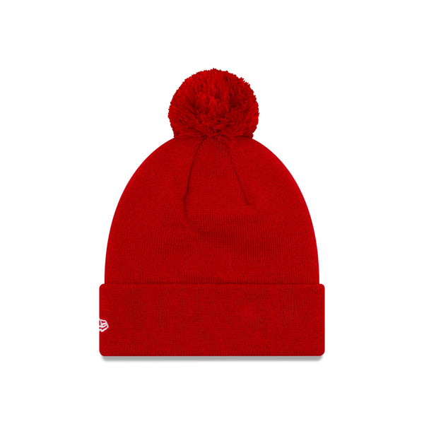 New Era USWNT 3-Star Solid Red Pom Knit