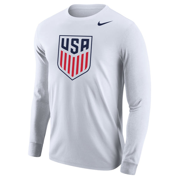 MEN'S NIKE U.S. SOCCER CORE COTTON LONG SLEEVE TEE- WHITE