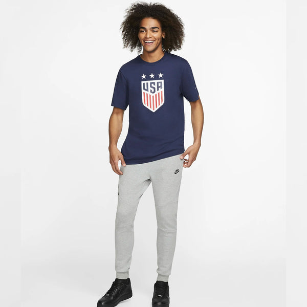 MEN'S NIKE USA 3-STAR CREST TEE - NAVY