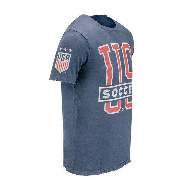 Men's Junkfood USWNT 3-Star Core Navy Tee