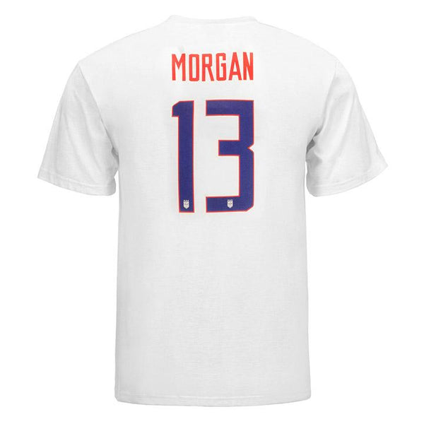 Men's Nike USWNT 3-Star Morgan Name and Number Tee