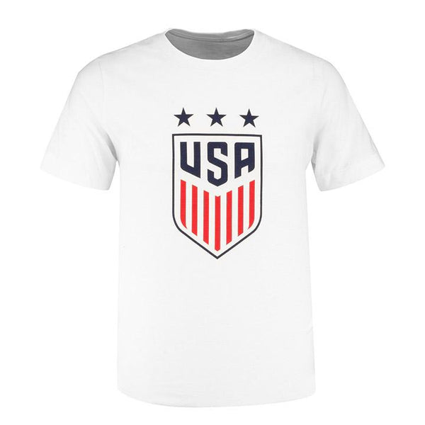 Youth Nike USWNT 3-Star Crest White Tee
