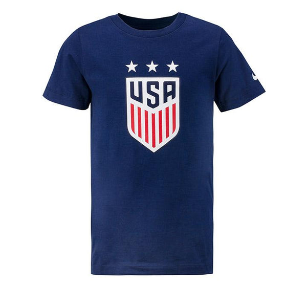 Youth Nike USWNT 3-Star Crest Navy Tee