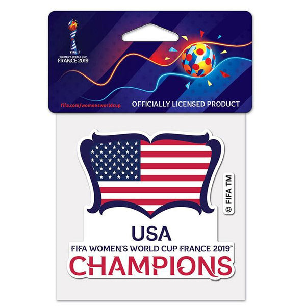 Wincraft USA 2019 World Cup Champions 4x4 Decal
