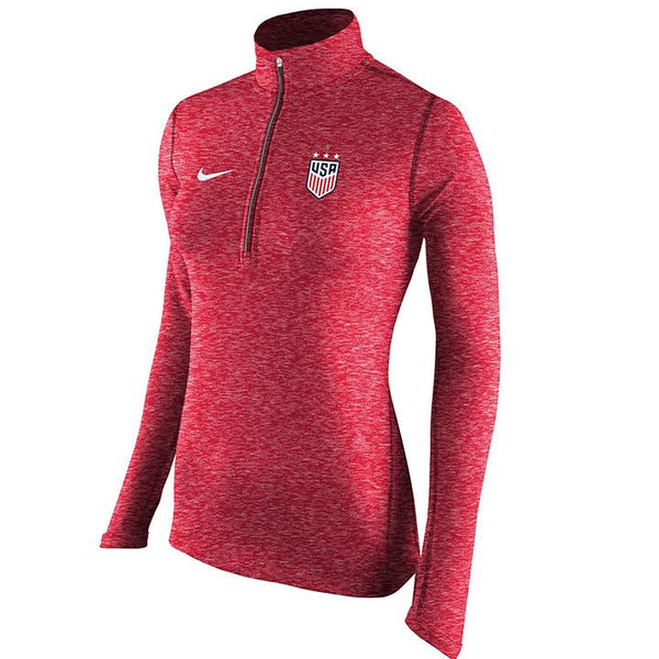 WOMEN'S NIKE WNT 4STAR TAILGATE HEATHERED ELEMENT 1/2 ZIP TOP
