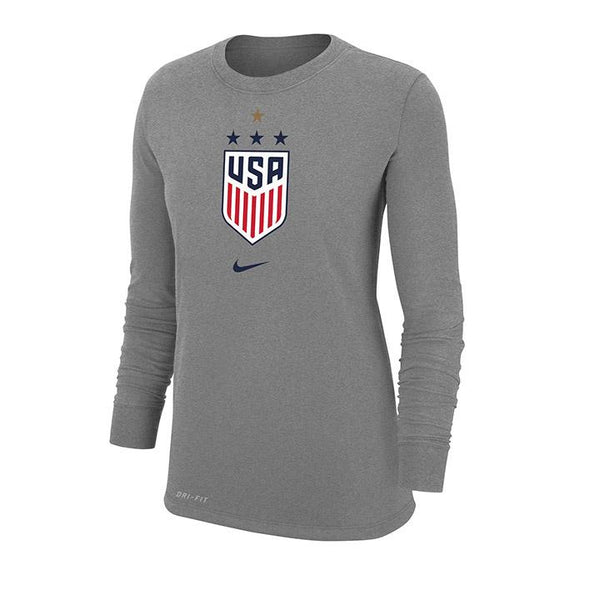 WOMEN'S NIKE WNT 4STAR DRIFIT COTTON LONG SLEEVE TEE