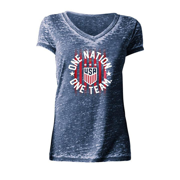 Women's 5th & Ocean USWNT Burnout V-Neck Tee